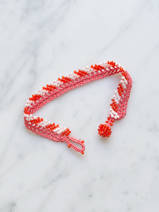 bracelet en crochet Stripes