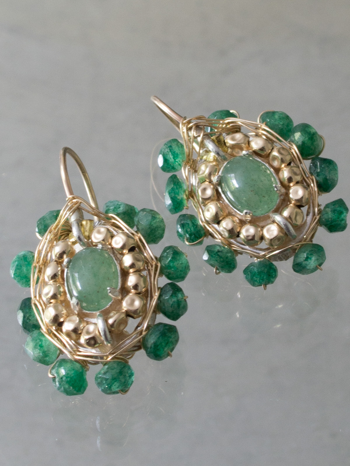 earrings Ethnic aventurine