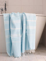 hammam towel light turquoise/white