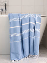 hammam towel blue/white