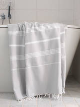 hammam towel light grey/white
