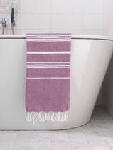 hammam towel raspberry/white