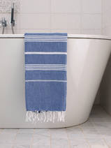 hammam towel parliament blue/white