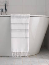 hammam towel white/light grey