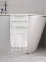 hammam towel white/light green