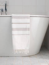hammam towel white/grey-beige