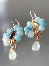 earrings Flower amazonite, labradorite