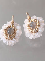 earrings Ethnic moonstone and labradorite