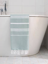 hammam towel grey-green/white