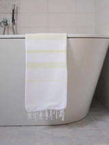 hammam towel white/lemon