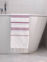 hammam towel white/raspberry