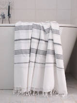 hammam towel white/dark grey