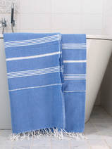 hammam towel greek blue/white