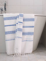 hammam towel white/greek blue