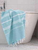 hammam towel dark sea/white