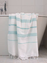 hammam towel white/dark sea