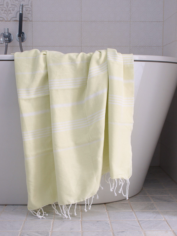 hammam towel lime/white