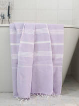 hammam towel light lilac/white