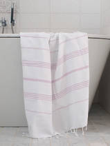 hammam towel white/light lilac