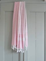 hammam towel with terry cloth, sorbet pink