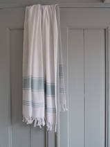 hammam towel white/sea green