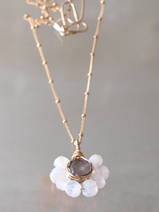 necklace Flower labradorite and moonstone