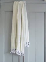 hammam towel with terry cloth, lemon yellow