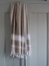 hammam towel grey-beige/white