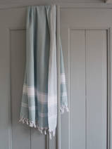 hammam towel sea green/white