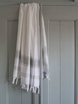 hammam towel white/ light grey