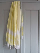 hammam towel lemon yellow/white