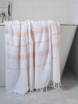 hamam towel white/peach