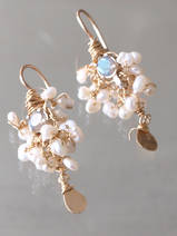 earrings Fairy pearls and labradorite