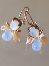 earrings Bee mother of pearl