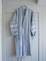 hammam bathrobe size M, jeans blue