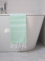 hammam towel fresh green/white