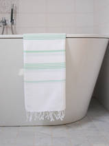 hammam towel white/fresh green